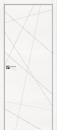 Дверь межкомнатная шпонированная «Вуд Арт-5.H» Whitey (Шпон натуральный) глухая