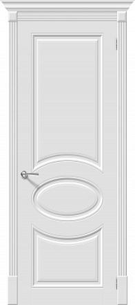 Дверь межкомнатная крашенная «Скинни-20» Whitey (Эмаль) глухая