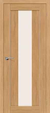 Дверь межкомнатная из эко шпона «Порта-25 alu» Anegri Veralinga остекление Сатинато белое
