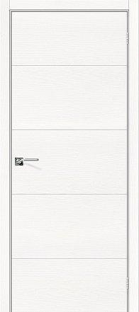 Дверь межкомнатная шпонированная «Вуд Арт-2.H» Whitey (Шпон натуральный) глухая