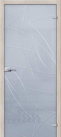 Дверь межкомнатная стеклянная «Аврора» Сатинато белое