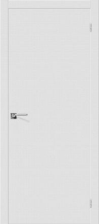 Дверь межкомнатная крашенная «Скинни-10» Whitey (Эмаль) глухая
