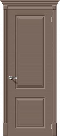 Дверь межкомнатная крашенная «Скинни-12» Mocca (Эмаль) глухая