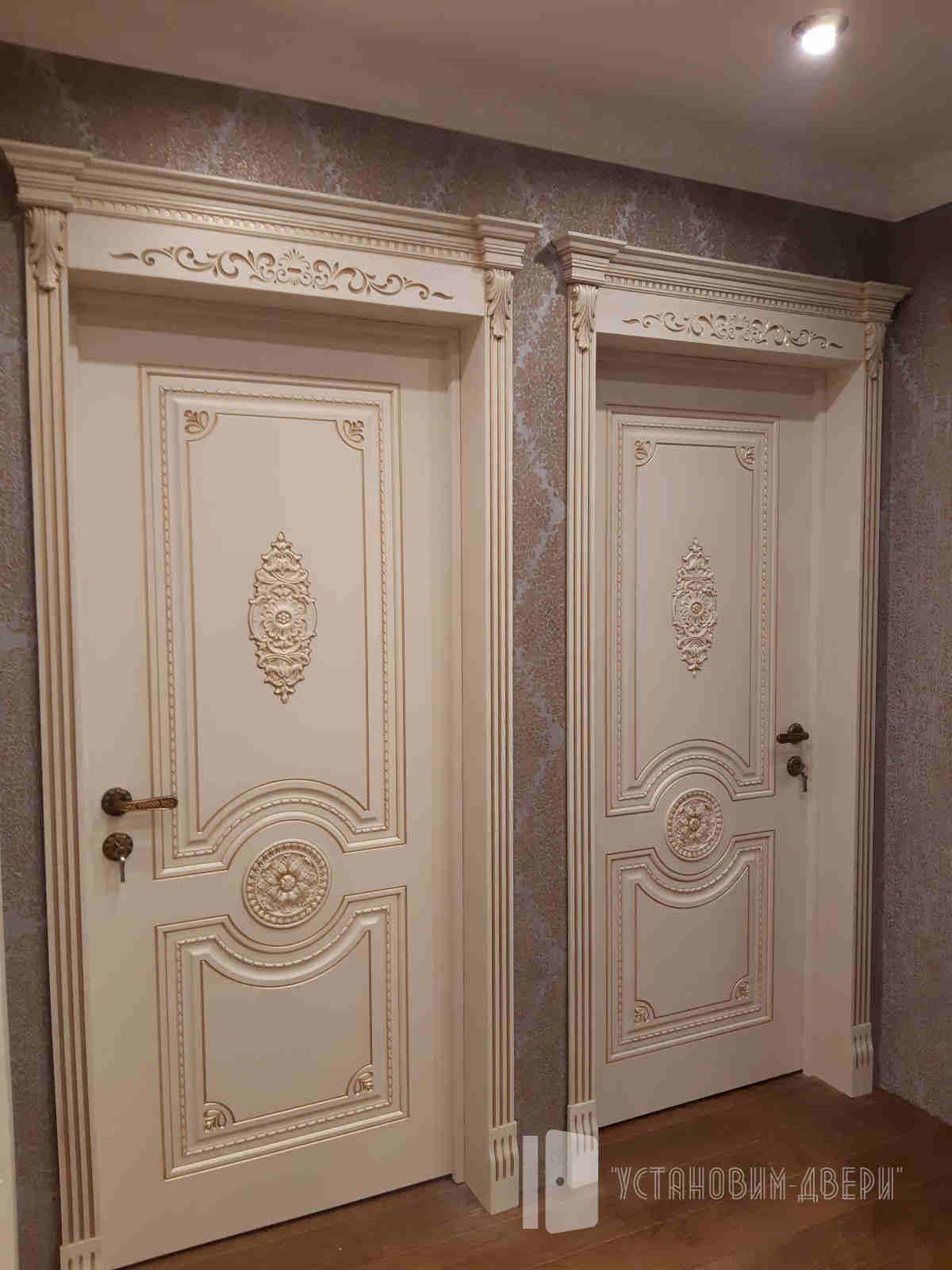 установка классических дверей